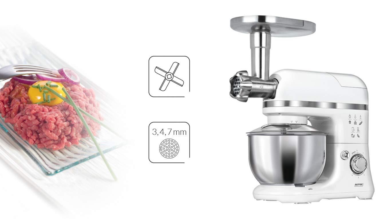 MPM MRK-15 Robot de Cocina 3 en 1, 1200 W, 4 litros, Acero ...