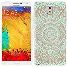 Note3 Case, Samsung Note 3 Case, Galaxy Note3 Case , Chichic Full Protective Unique Case Slim Durable Soft TPU Cases Cover for Samsung Galaxy Note3 N900a N900v N9000 N9002 N9005 N900p N900t,geometric Turquoise Mandala Wood Grain