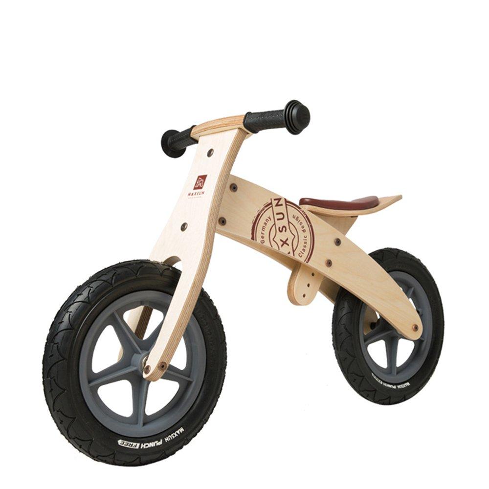 LVZAIXI 木製幼児バランシングカー、ベビーウォーキングスクーター、木製スライド、子供用自転車 (色 : Natural A) B07BW9WBSQ Natural A Natural A