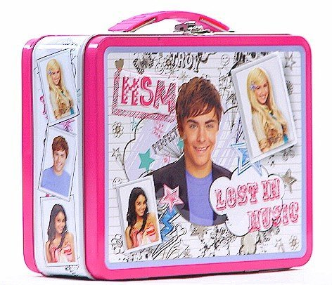 High School Musical Lunch Box - High School Musical White and Pink Tin Lunch Box