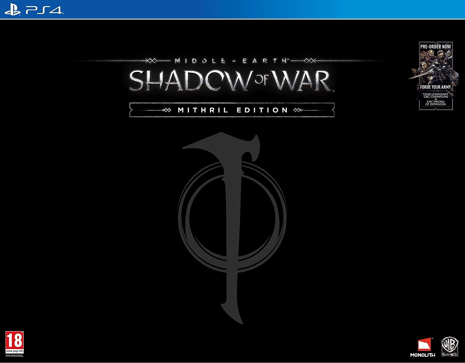 Middle earth shadow of war mithril edition exclusive to amazon middle earth shadow of war mithril edition exclusive to amazon ps4 amazon pc video games biocorpaavc