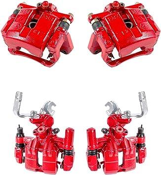 FRONT REAR Premium Semi-Loaded Red Coated Calipers Hardware Brake Kit Callahan CCK03866 4