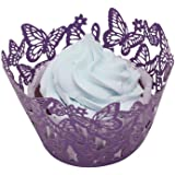 Tinksky Cupcake Wrappers Cupcake Cases Cupcake Holders Muffin Cups,50pcs(Purple)