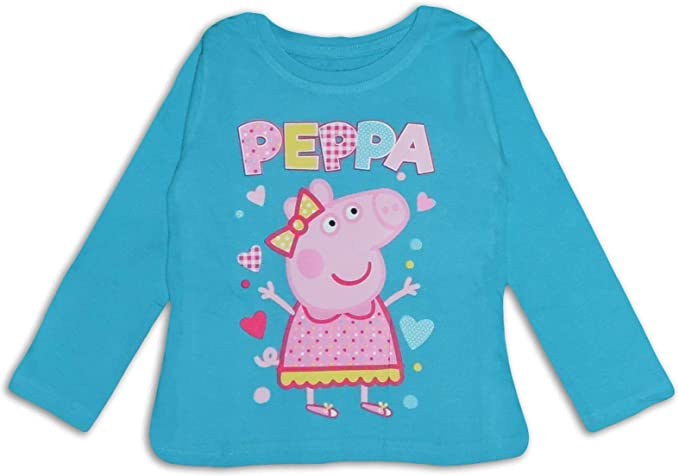 Peppa Pig - Camiseta de Manga Larga para niña (algodón): Amazon.es ...