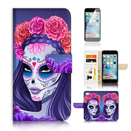 Flip Wallet Case Cover and Screen Protector Bundle A20256 S