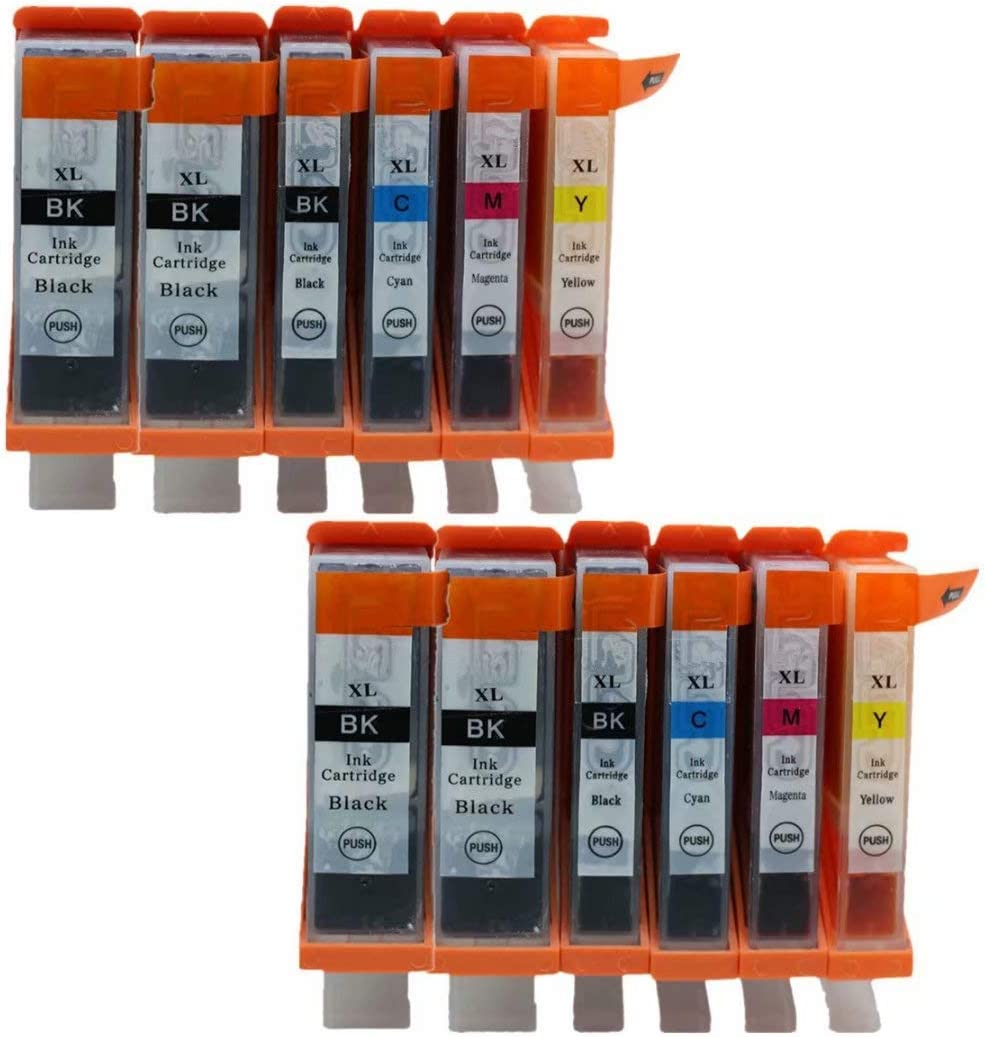 No-name Compatible Ink Cartridge Replacement for Canon PGI225 PGI 225 XL CLI-226 PGI-225 PGI-225XL Pixma MG8120B MG8220 MX882 MX892 IX-6520 Inkjet Printer 2 Set 5 Color + 2 Black