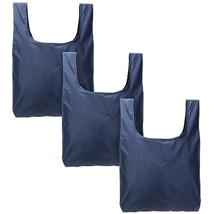 Luxja Bolsa de la Compra Plegable, Bolsa Compra Reutilizables, Bolsa Durable para Comprar Bolsa de Tela para Compras (3 Piezas)