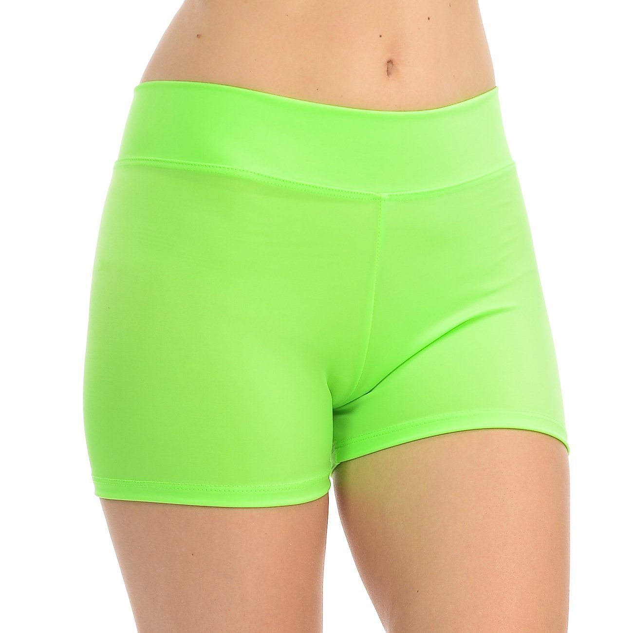 ANZA Girls Active Wear Dance Booty Shorts-Lime,Medium(8/10) by Anza Collection
