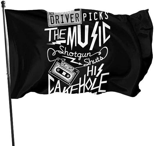 Outdoor Indoor Garden Banner Zeichen Supernatural Driver Picks Die Musik Wetterbeständig Saisonale Familienfeier Flagge Eine Seite (3 x 5 ft) |Polyester