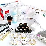 ジェルネイルスターターキット 日本製カラージェル計6色+最新UV-LEDライト48W+ネイルアート用品64種 / 6か月保証 / ノーヴプロ/初心者におすすめ/わかりやすい写真解説書付き