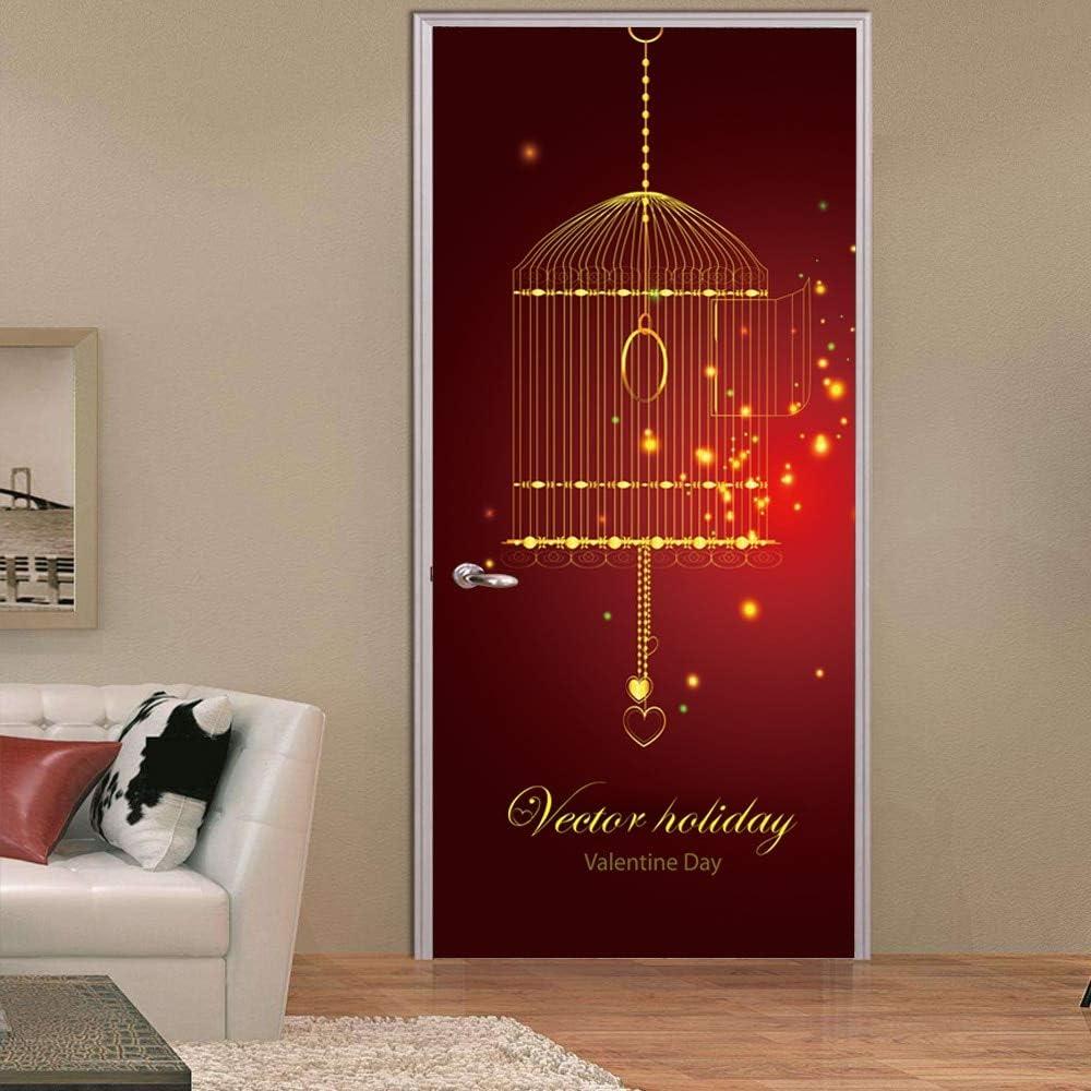 Etiqueta De La Puerta Patrón De Luz De Fiesta Musulmán Puerta Entrada DIY Pegatinas De Pared Decoración del Hogar Calcomanías 77 * 200cm
