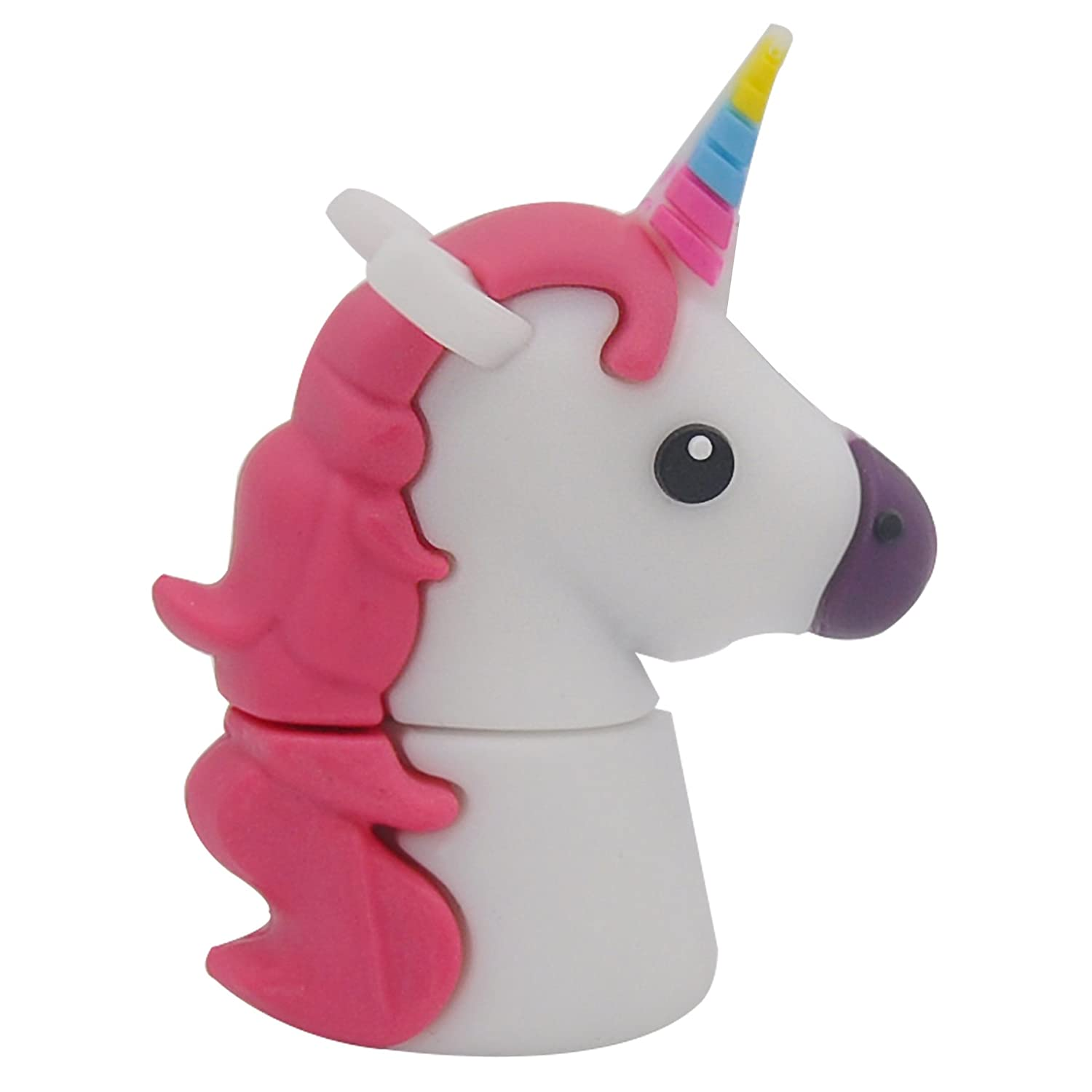 818-Shop no17300010008 USB PenDrive (32 GB) favoloso animale bianco unicorno 818-Tech