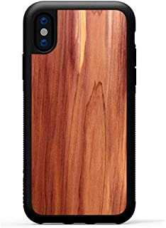 product image for Carved - iPhone Xs - Luxury Protective Traveler Case - Unique Real Wooden Phone Cover - Rubber Bumper - Eastern Red Cedar