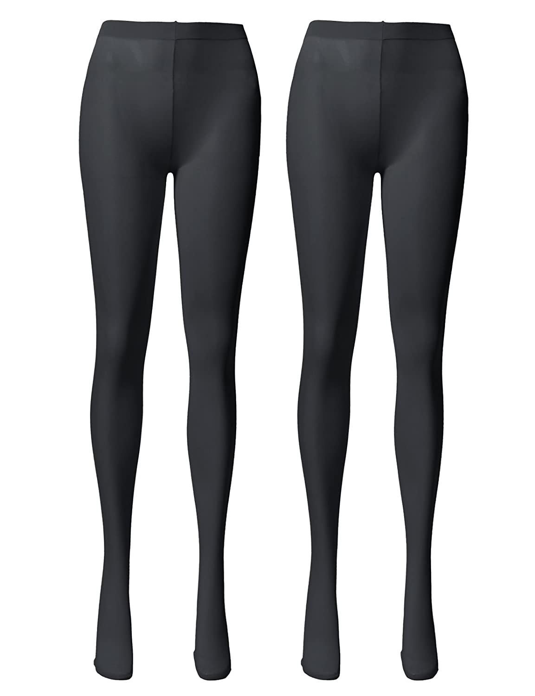 【OSABASA】オサバサ 女性 プレミアム ファッション 小物 オシャレ 80デニール マチ付き 透け感 カラフル カラー タイツ KWMT05 B07547Z8N9 M-L|2Pair-CHARCOAL 2Pair-CHARCOAL M-L