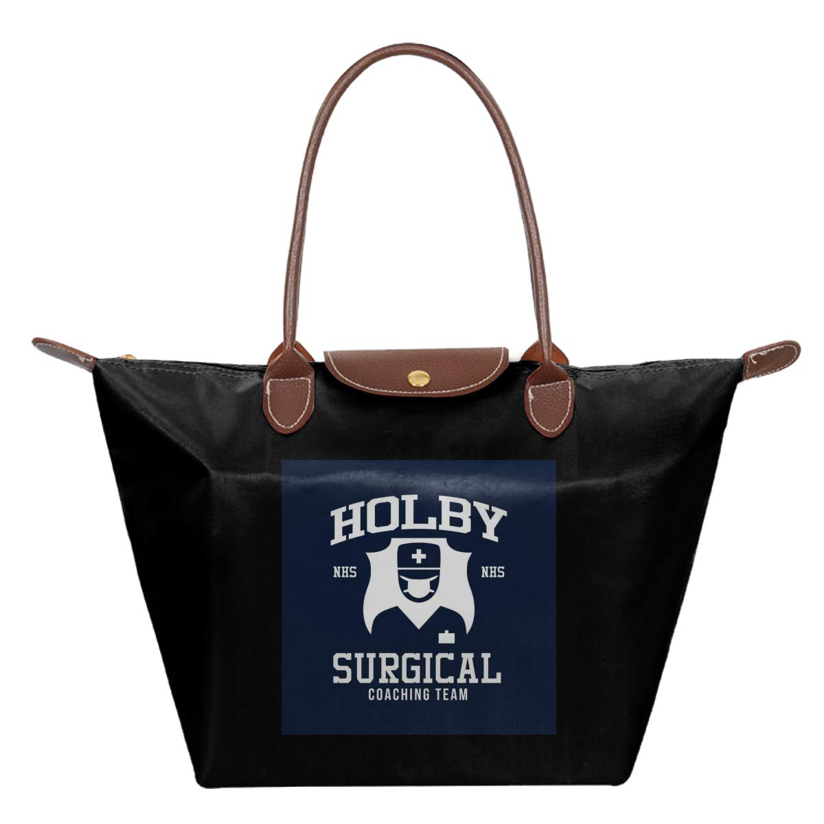 Holby Surgical Coaching Team NHS Waterproof Leather Folded Messenger Nylon Bag Travel Tote Hopping Folding School Handbags