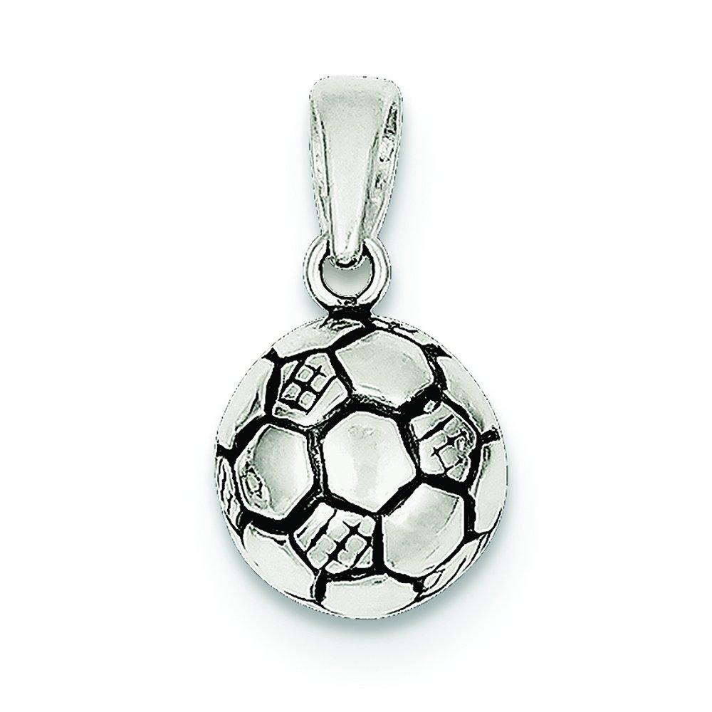 Plata de Ley 925 con colgante de balón de fútbol encanto: Amazon ...