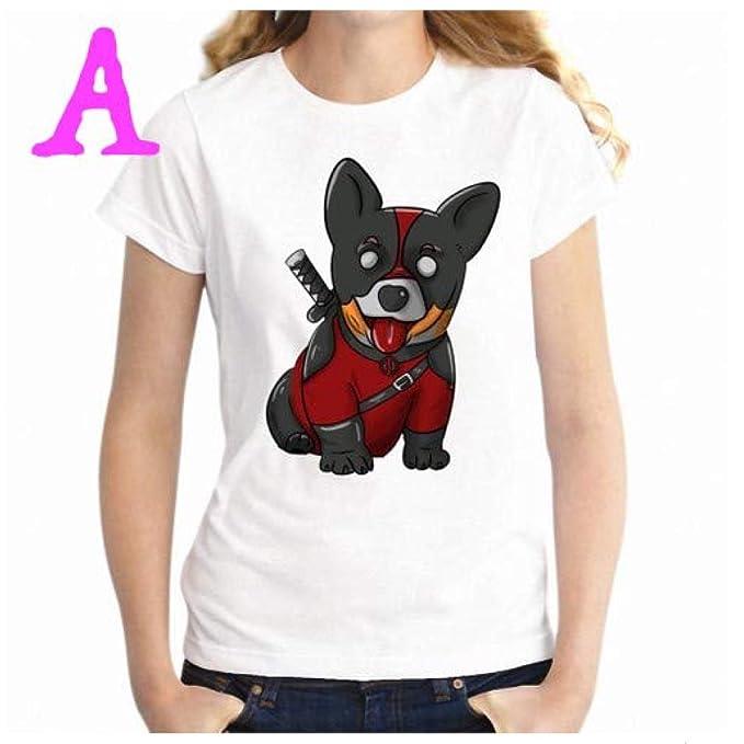 Amazon.com: Camiseta para mujer adulto niña perro amantes de ...