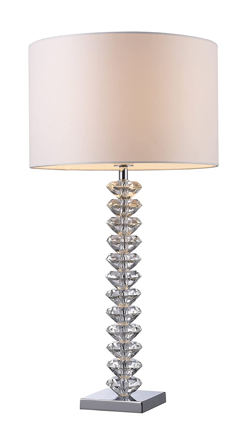 Dimond d1483 modena table lamp crystal and chrome amazon aloadofball Image collections