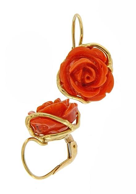 Corallo RossoAmazon Giallo Rosa Di itGioielli E Orecchini Oro gy6fb7