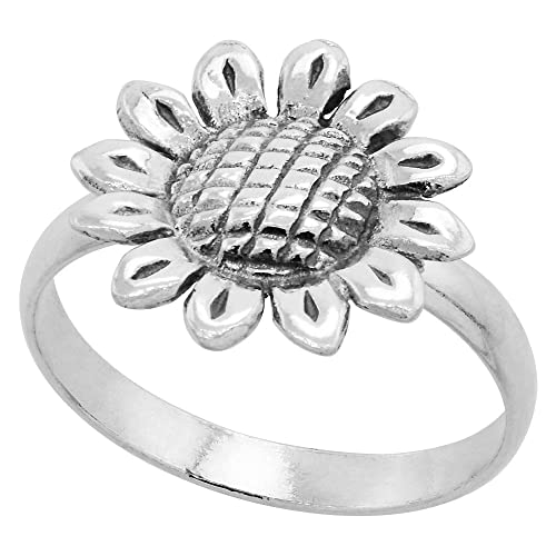 Fine Jewelry Personally Stackable Sterling Silver Sunflower Ring psXn3d