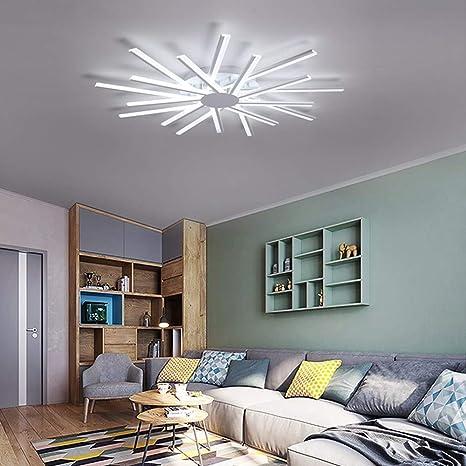 leohome Creativa modernas Plafón LED para salón Luces ...