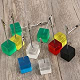 VORCOOL Cube Wire Resin Base Memo Clips Holder with Alligator Clip Clasp Photo Holder Stand Number Card Paper Note Desk Clip Reminder 10pcs
