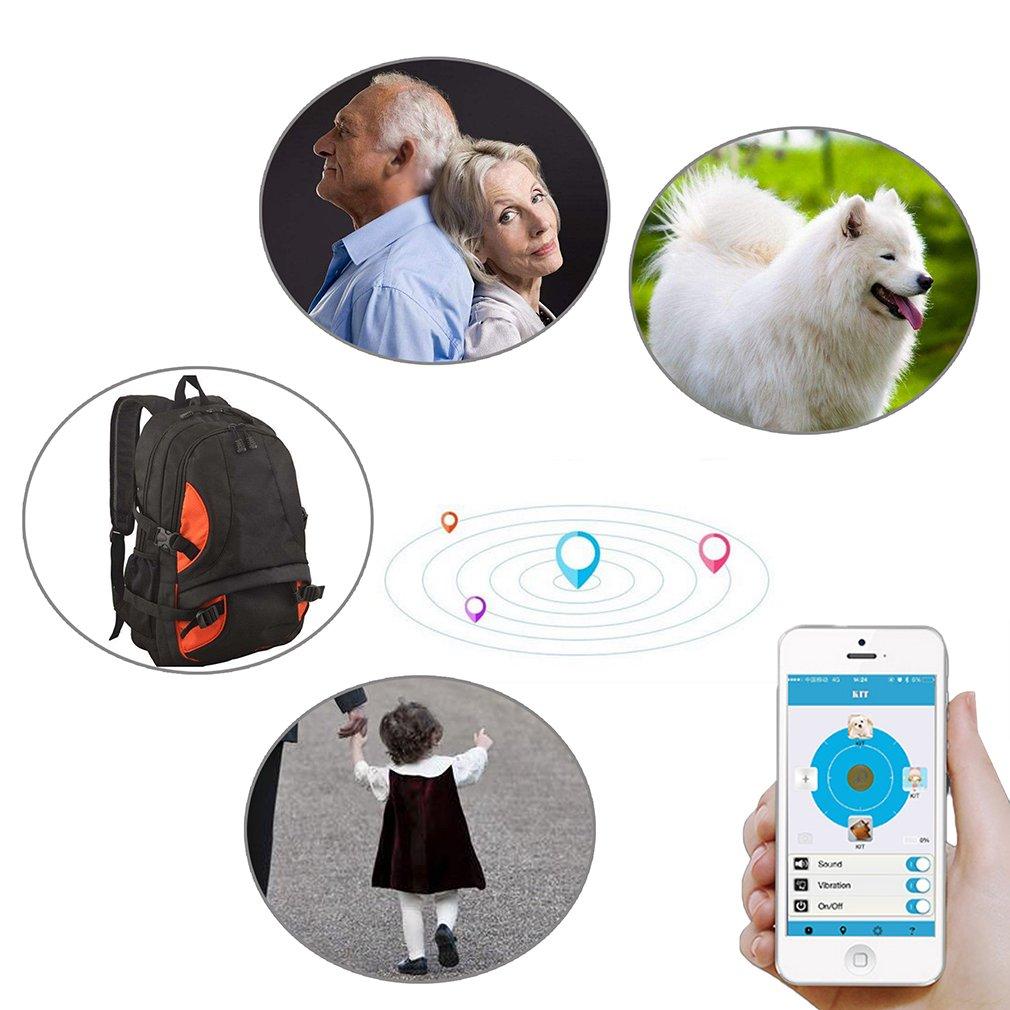 Emma 2 x Smart Tag Bluetooth antip/érdida localizador rastreador Llavero ni/ños Mascota GPS Buscador Negro