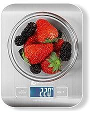 Báscula Digital Cocina, Houzetek Balanza Cocina con Gran Pantalla LCD, Peso Cocina Digital Alimentos Precisión