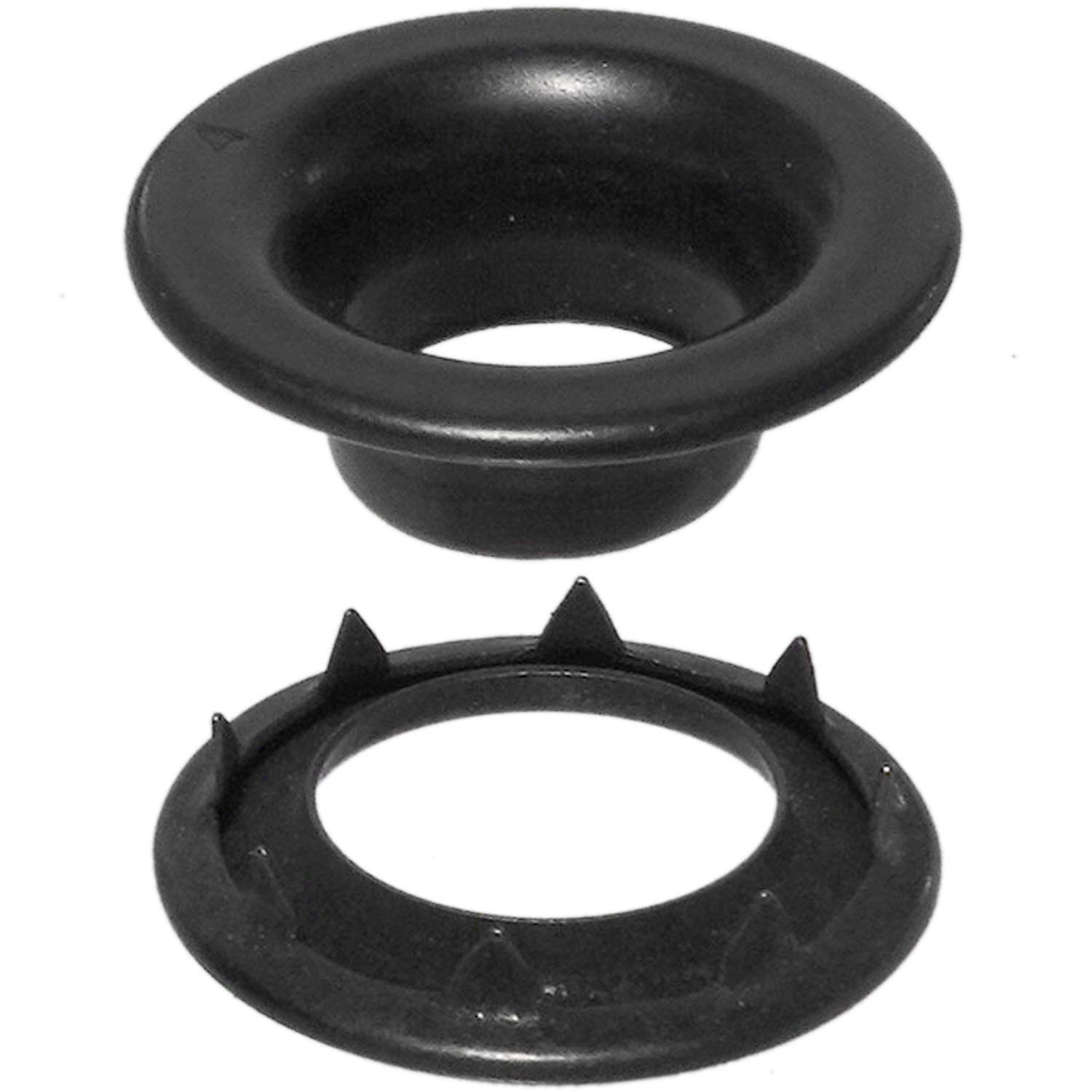 Stimpson Rolled Rim Grommet and Spur Washer Dull Black Chem Durable, Reliable, Heavy-Duty #4 Set (720 pieces of each)