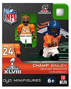 NFL Denver Broncos Champ Bailey Toy Figure
