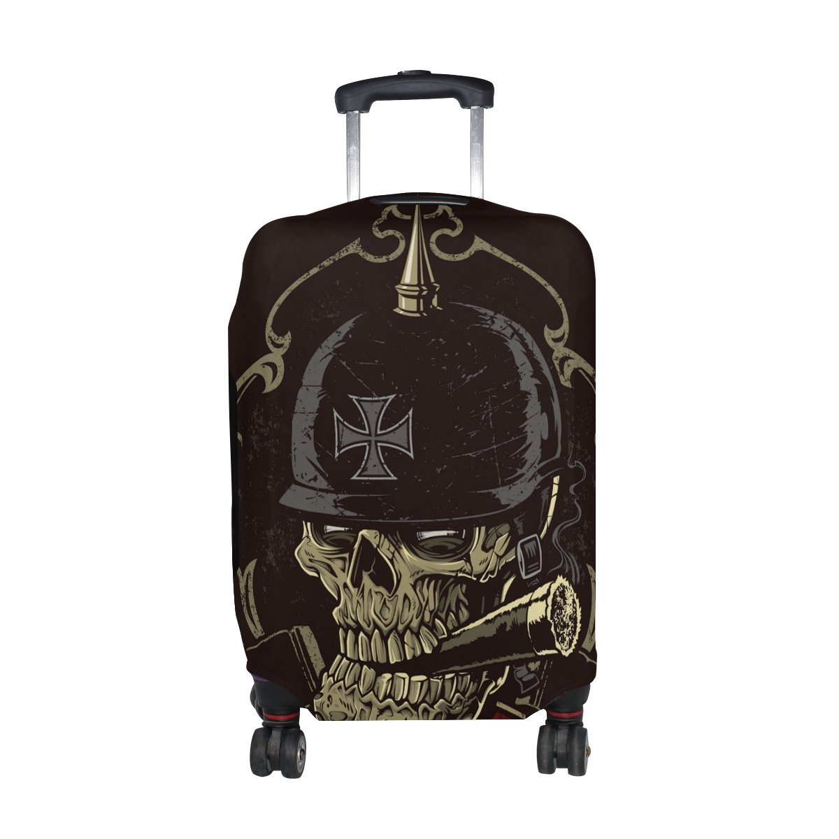 Punk Skull Travel Luggage Protector Baggage Suitcase Cover Fits 29-32 Inch Luggage