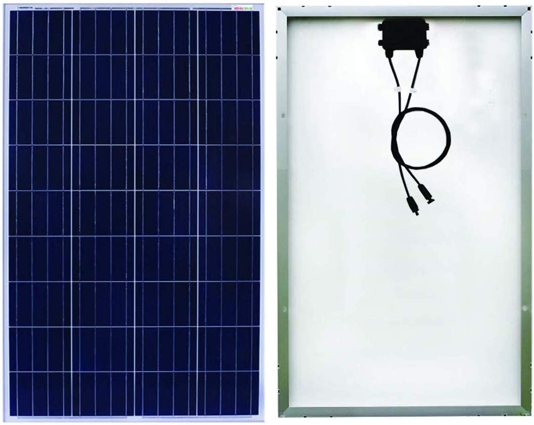 Sonali Solar 100 Watts 100 W X 1 Pcs 12 Volts Polycrystalline Solar Panel with MC4 connectors. ETL Certified High Efficiency Module.