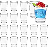Farielyn-X 16 Pack 1.5-Ounce Heavy Base Shot Glass Set, Whiskey Shot Glass, Clear Glass
