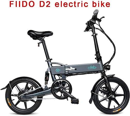 FIIDO Bicicleta Eléctrica Adultos, Plegable Ebike con Amortiguador, 7.8ah Litio Batería Bicicletas Electricas por Ciclismo Viaje Conmutar (Gris & Negro): Amazon.es: Deportes y aire libre
