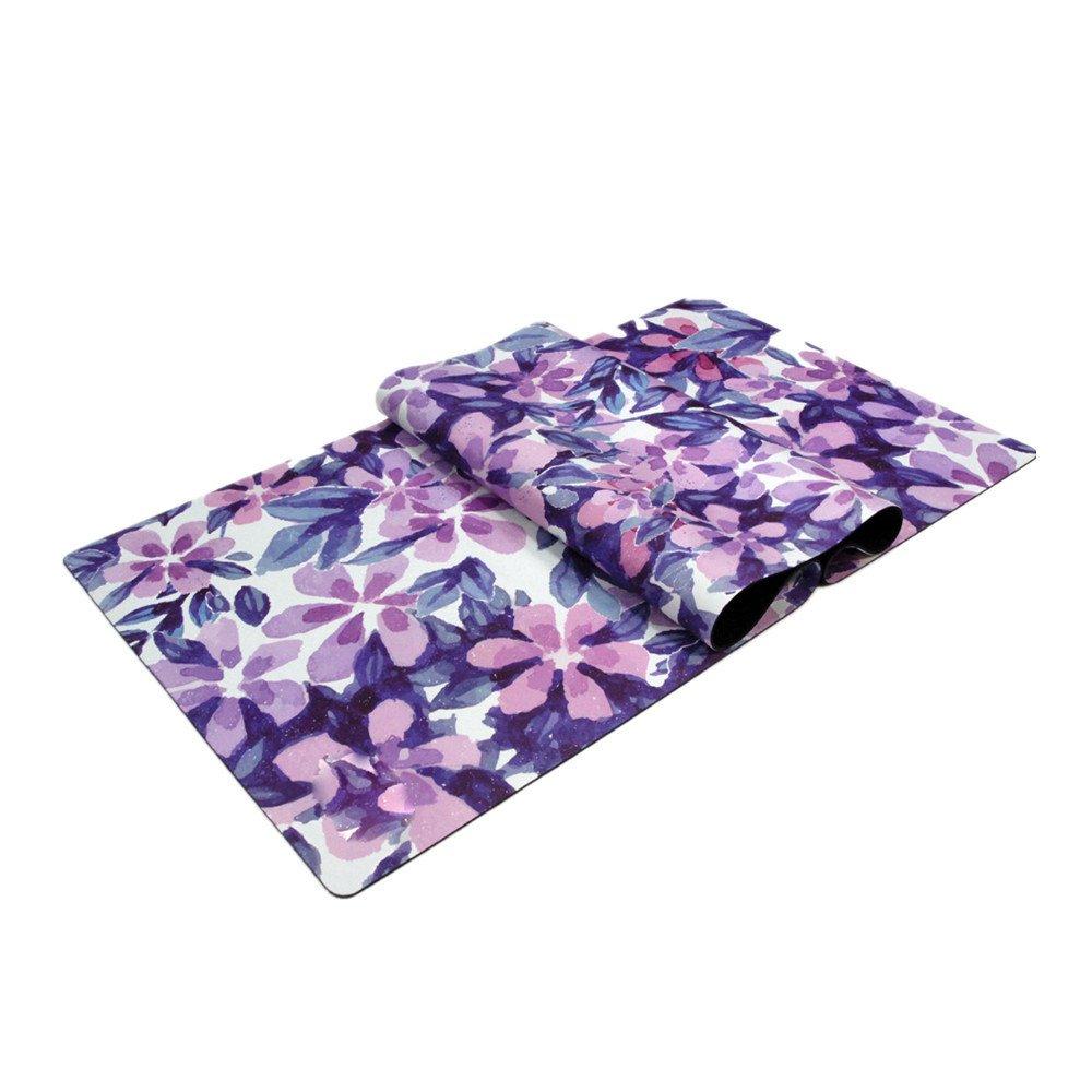 フィットネスマット トレーニングマット 熱いヨガの家または旅行のためのヨガのマットの軽量及び吸収性の滑り止めのヨガのマット (色 : ピンク) B07RDH558Y 紫の 紫の