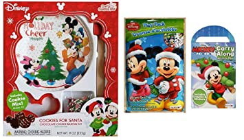 Amazon Com Disney Christmas Holiday Baking And Activity 3 Piece