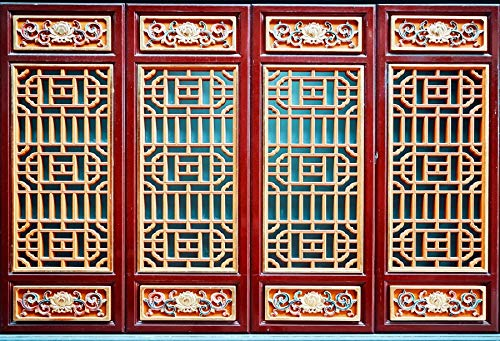 Yeele 6x4ft Chinese Style Background for Photography Ancient Traditional Windows Texture Backdrop Adult Kids Photo Booth Shoot Vinyl Studio Props