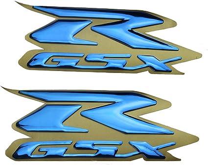 GSXR 600 750 1000 SUZUKI DECAL STICKER 8 PIECE SET BLACK WHITE RED SILVER BLUE