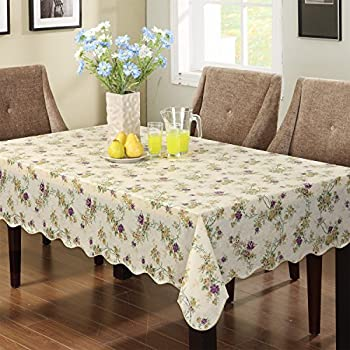 Lovely Ennas Cz028 Vinyl Outdoor Tablecloth Waterproof Oblong(rectangle) (47 Inch  By 60