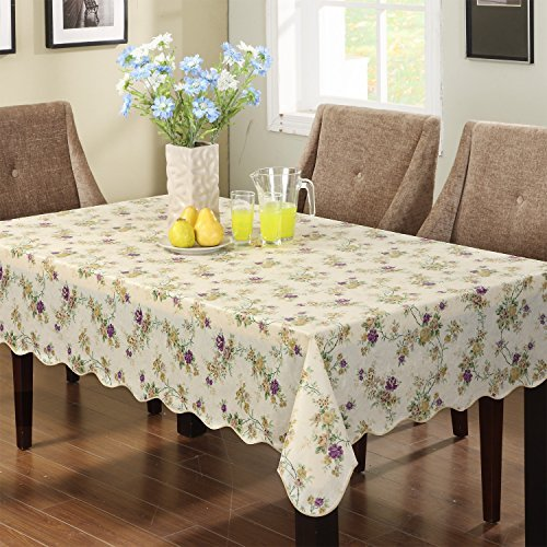 Ennas Cz028 Vinyl Outdoor Tablecloth Waterproof Oblong(rectangle) (47-Inch by 60-Inch ()