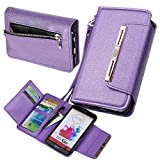Case for LG G3, xhorizon TM SR [Upgraded] 2 in 1 Premium Leather Wallet Rhinestone Button Closure Magnetic Car Mount Phone Holder Compatible Folio Case for LG G3