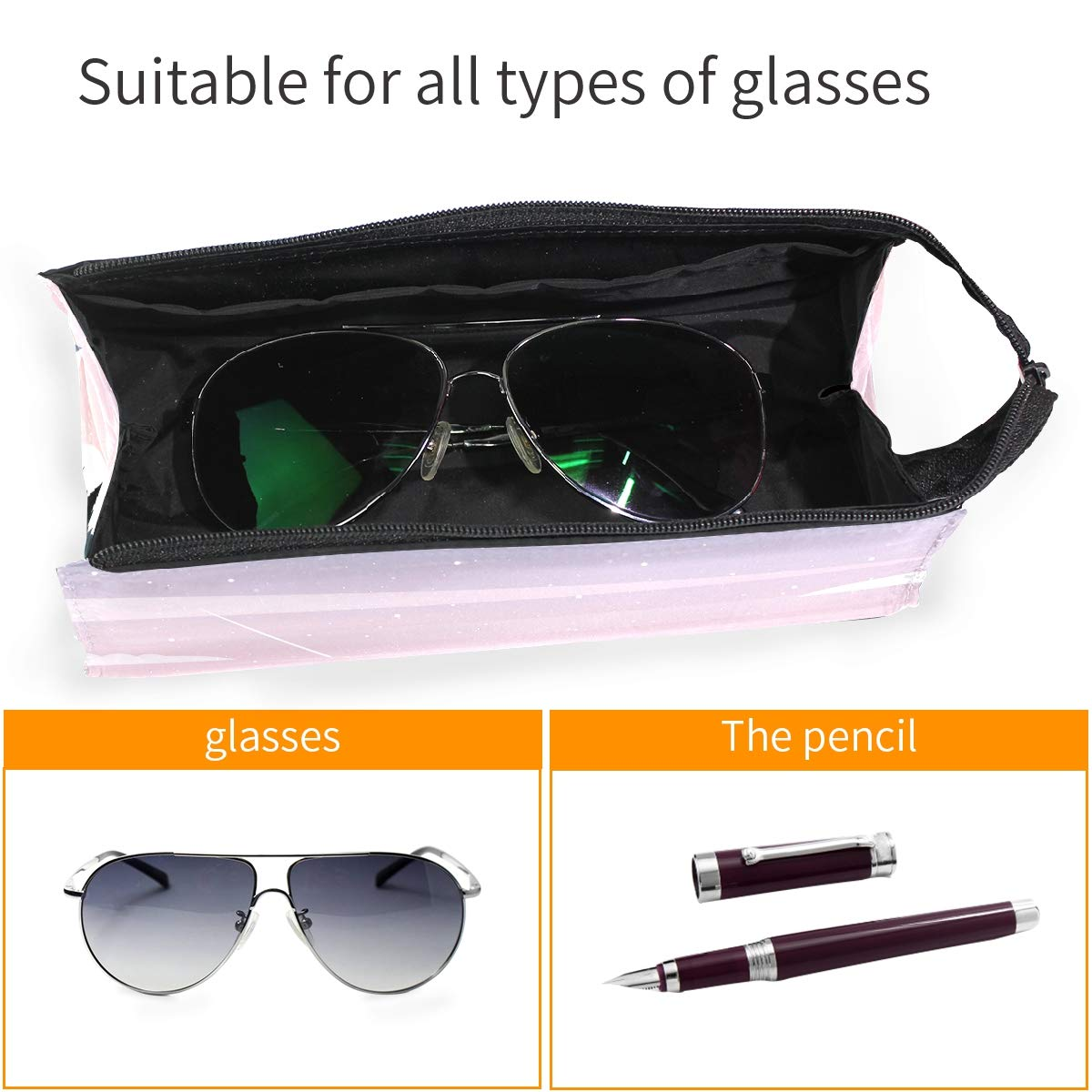 Sunset Glasses Case Women Men Eyeglasses Bag Pencil Case Pouch