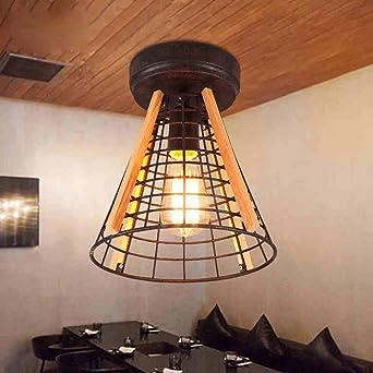 techo altillo bar retro creativa personalidad Escaleras de madera en el techo del café del restaurante: Amazon.es: Iluminación