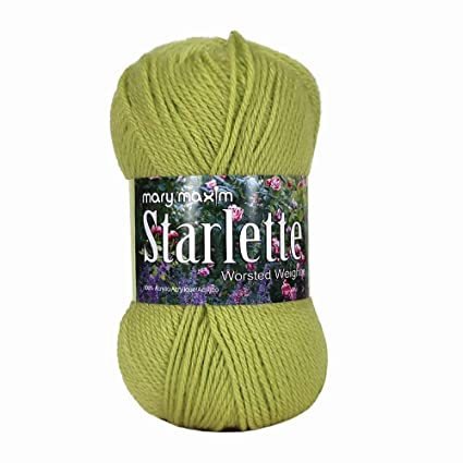 Mary Maxim Starlette Yarn - Lime - 100% Ultra Soft Premium Acrylic Yarn for  Knitting and Crocheting - 4 Medium Worsted Weight