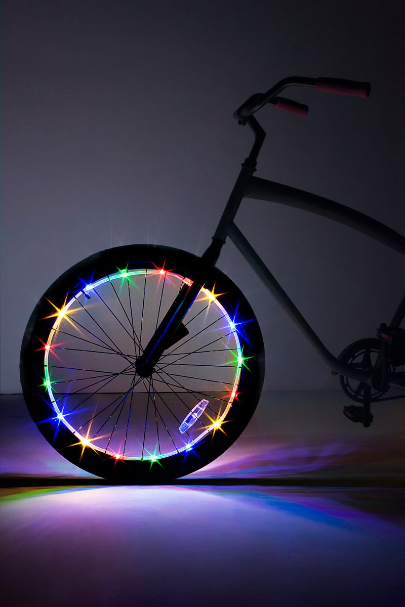 Brightz WheelBrightz LED Bicycle Wheel Accessory Light (for 1 Wheel), Multicolor