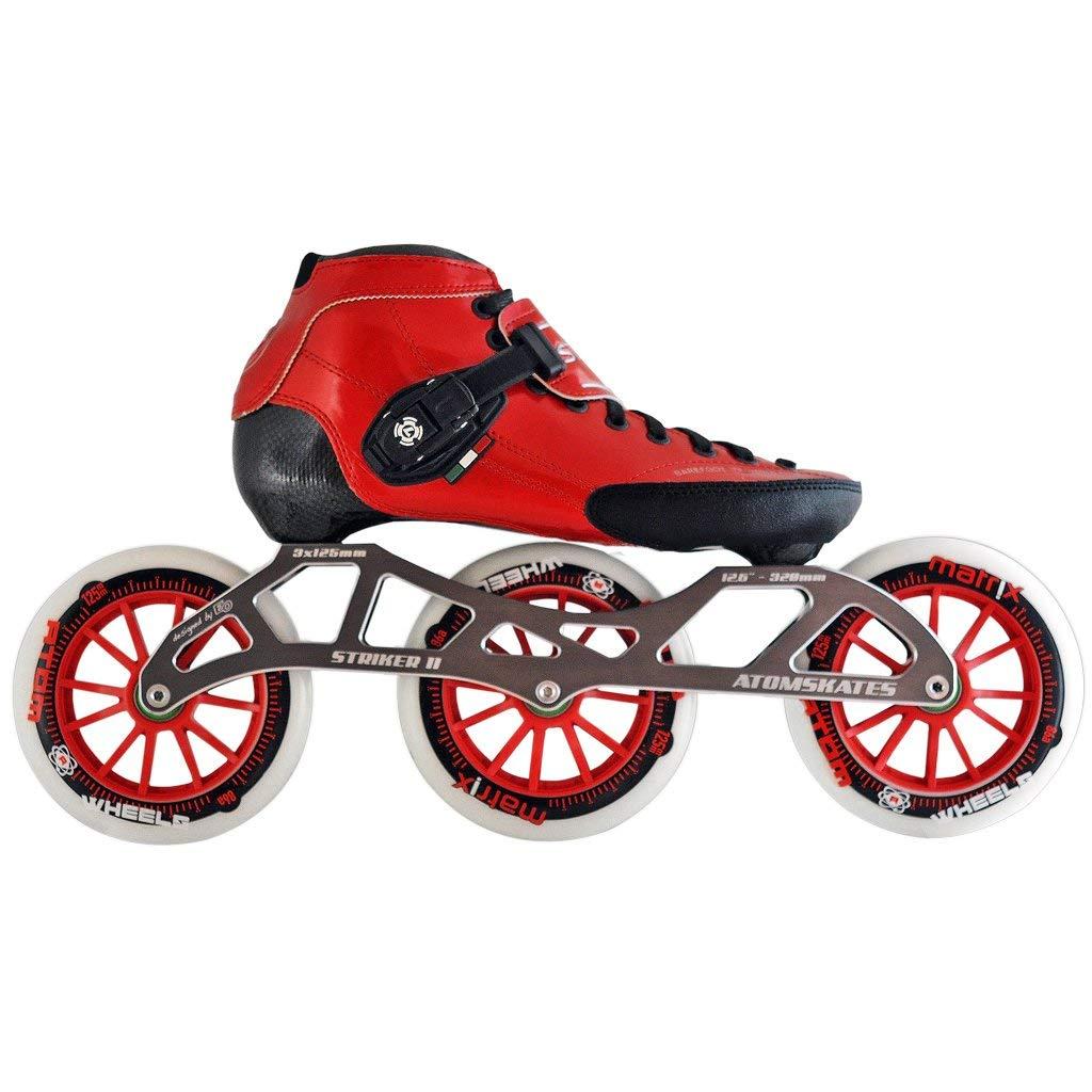 Atom Luigino Strut 125 Inline Skate Package (Size 11, Red)