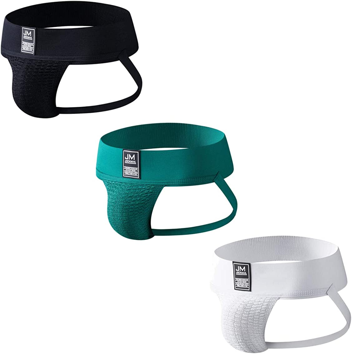 3PCS/Pack Mens Briefs Jockstrap Soft Mens Athletic Supporter Jockstrap Sport Underwear Briefs Athletic Jocks