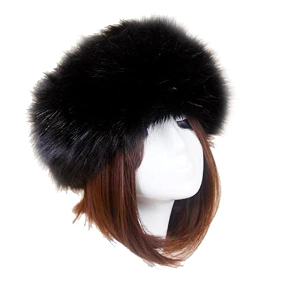 Image Unavailable. Image not available for. Color  Sikye Winter Faux Fox Fur  Hat Male Cap Men Women Soft Ski ... 600a0f1df952