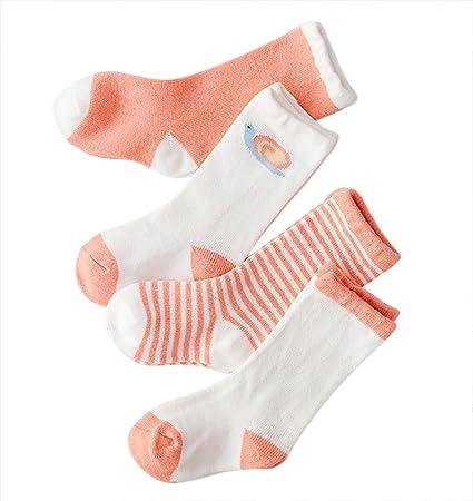 Lubier 4 Pares Calcetines De Los Niños De Bebé Cálido Suave Calcetines Super Lindo Altos Casual Calcetines Térmicos De Invierno (colour1): Amazon.es: ...