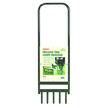 garden aerator. Bosmere N460 Hollow Tine Lawn Aerator With 5 Tines, 35\u0026quot; Garden R
